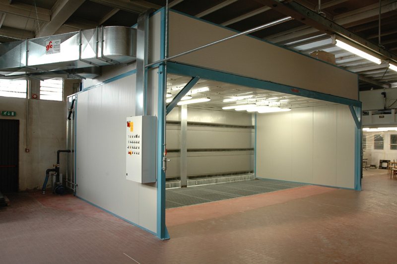 Dry spray booth CFS 3